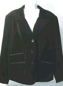 Menora Women's Black Velvet Blazer